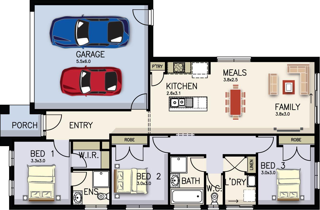 Ruby Floor Plan by  Yum Homes