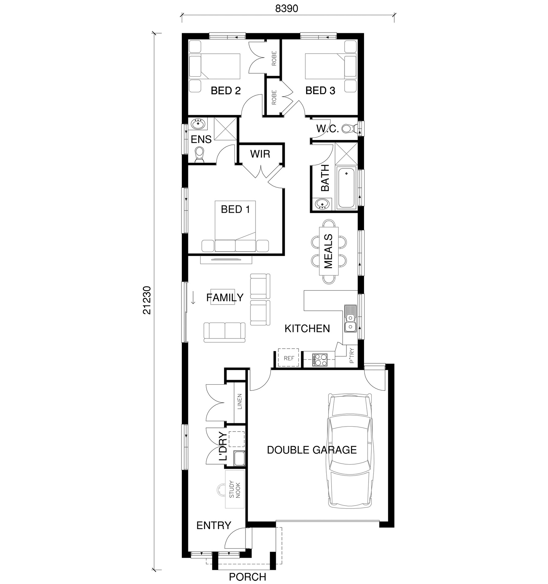 Lily Floor Plan by  Yum Homes