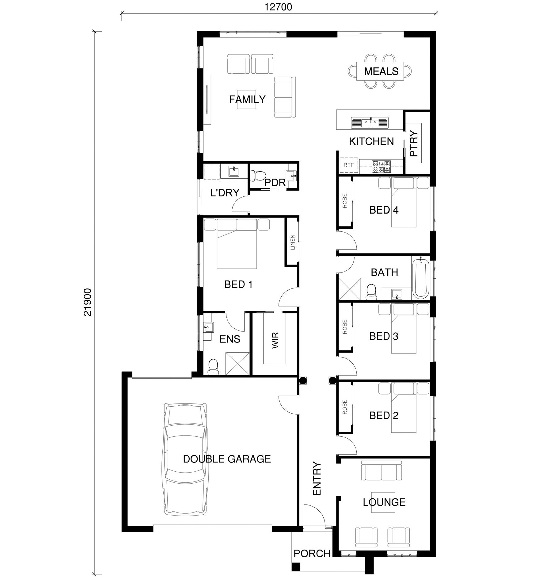 Kate Floor Plan by  Yum Homes