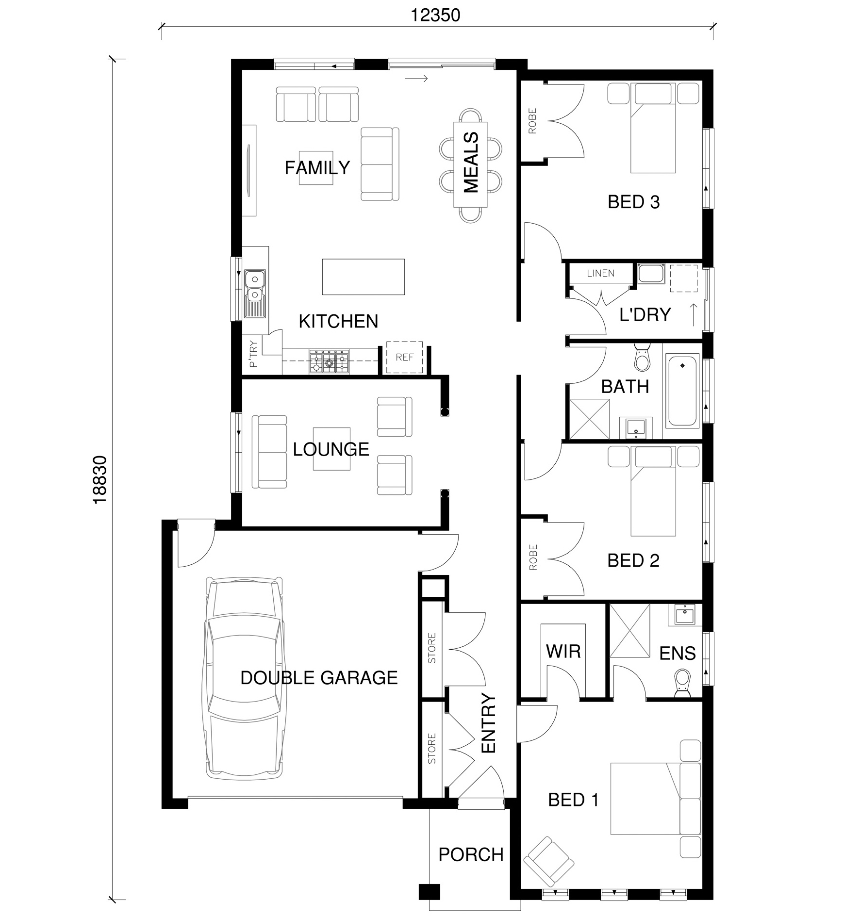 Lina Floor Plan by  Yum Homes