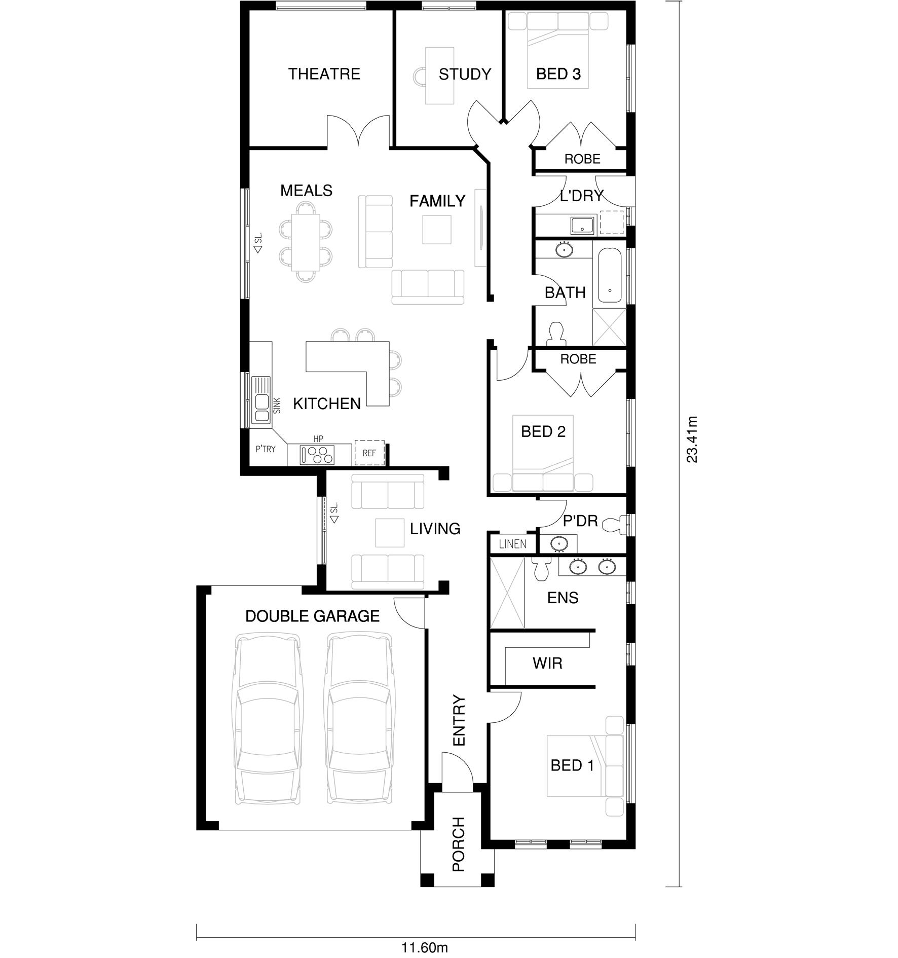 Zoe Floor Plan by  Yum Homes