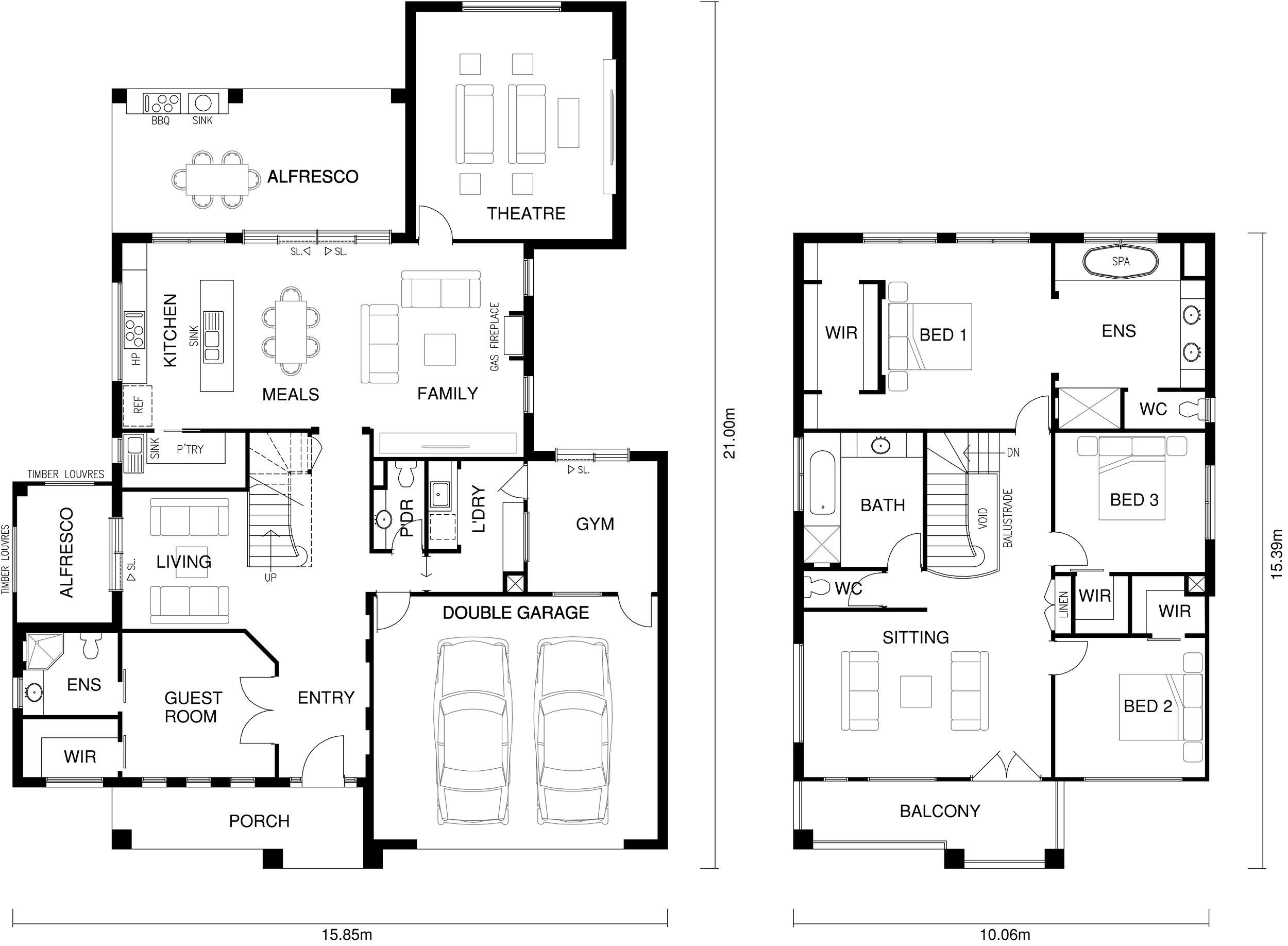 Zena Floor Plan by  Yum Homes