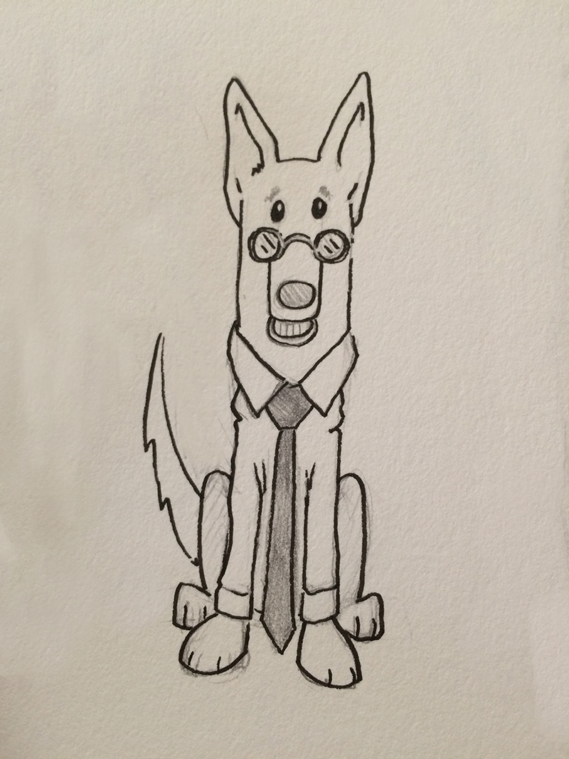 Original sketch of  Mister Dog