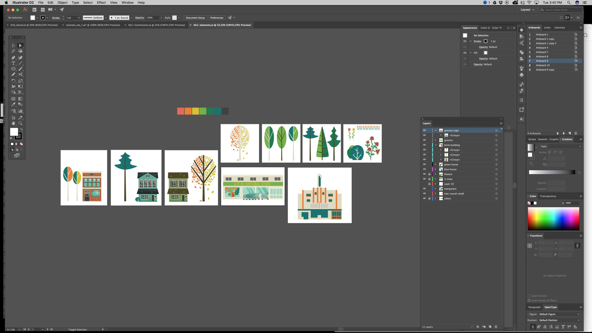 environmental background elements in progress