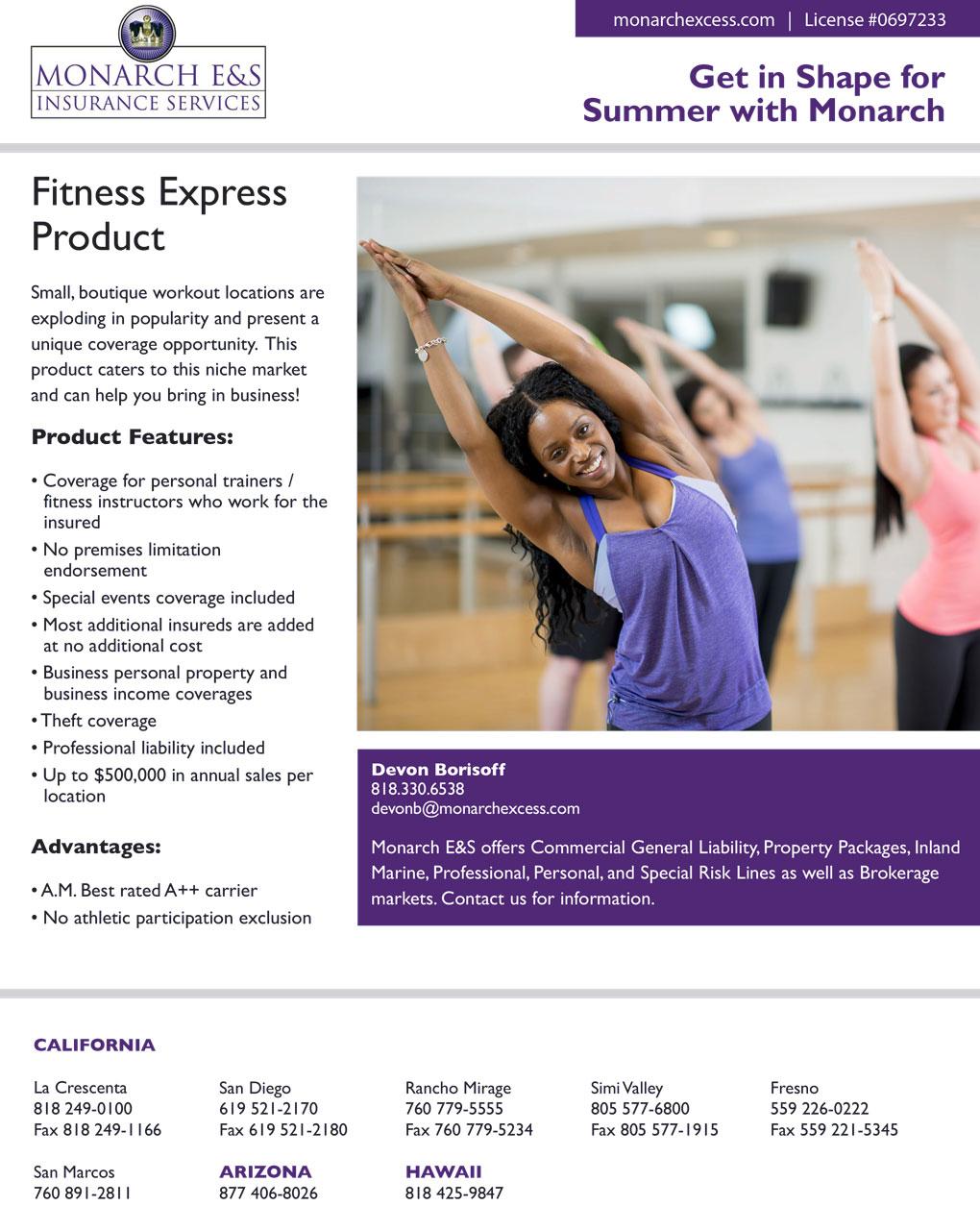 Flyer for Monarch Insurance