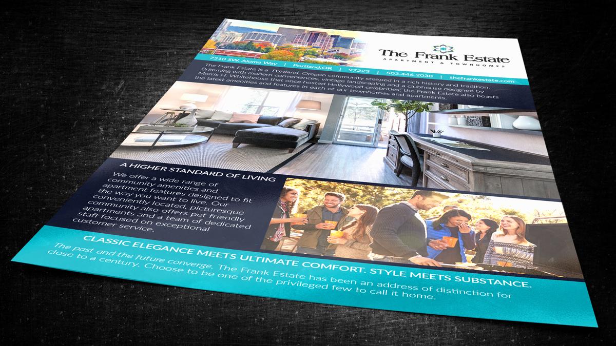 Frank Estate One-sheet for Holland Properties [working under Racila Design]