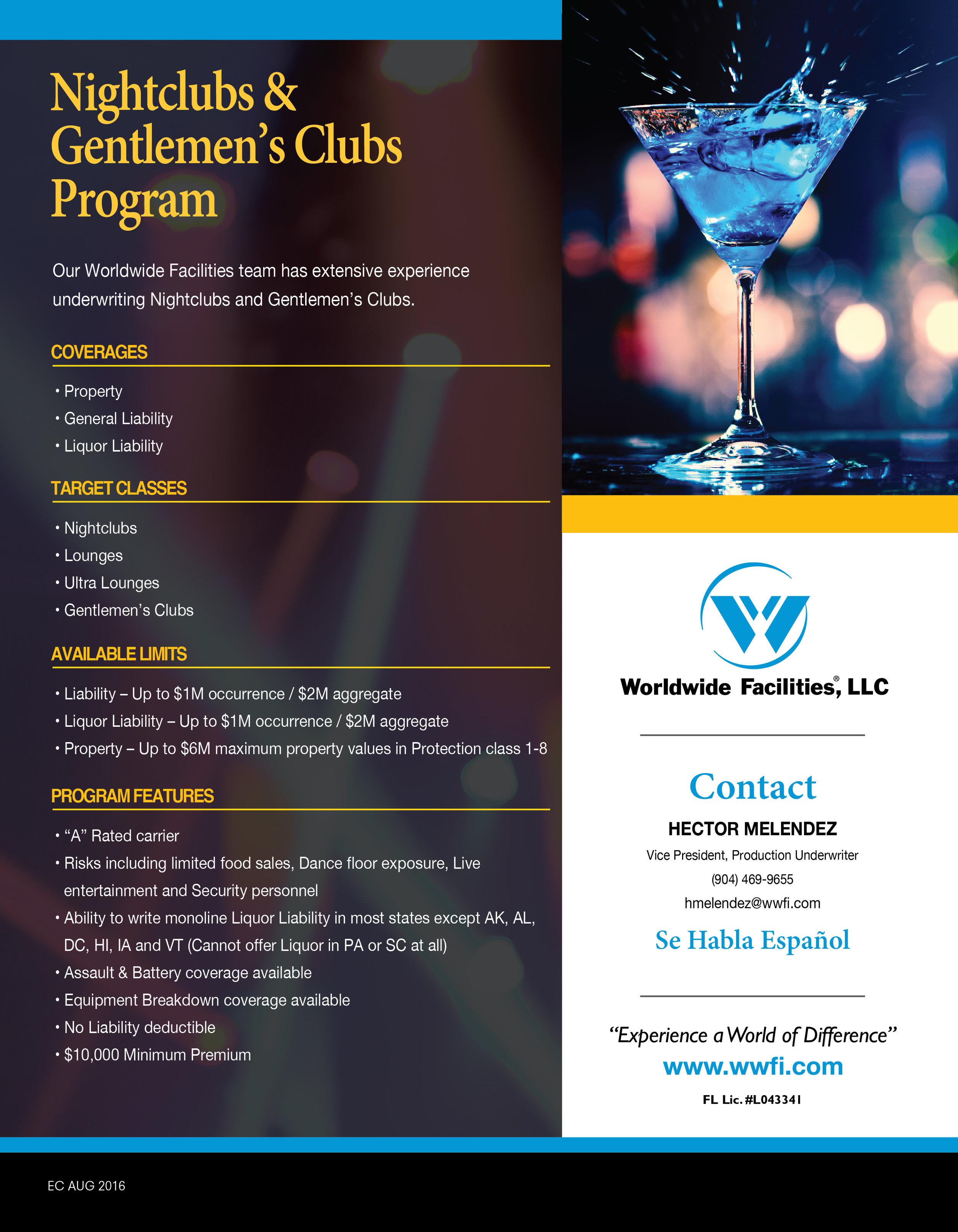 Flyer for Worldwide Facilities, LLC