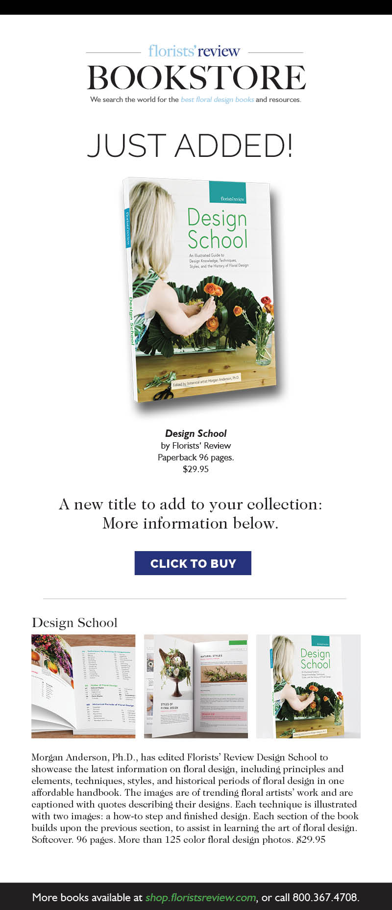 Email Campaign for  Florists' Review's  Design School, 2018