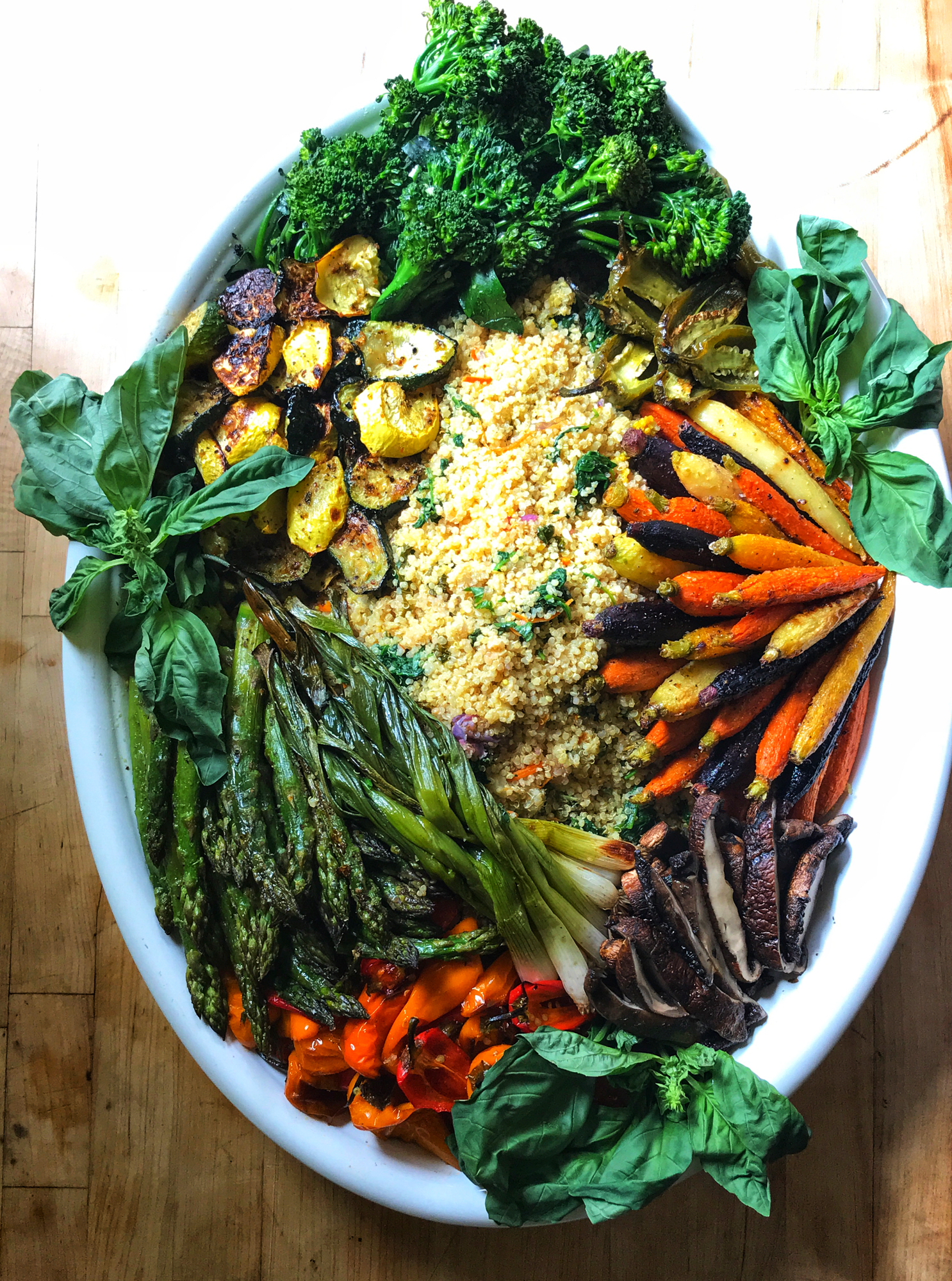 Roasted Vegetable & Curried Quinoa Platter