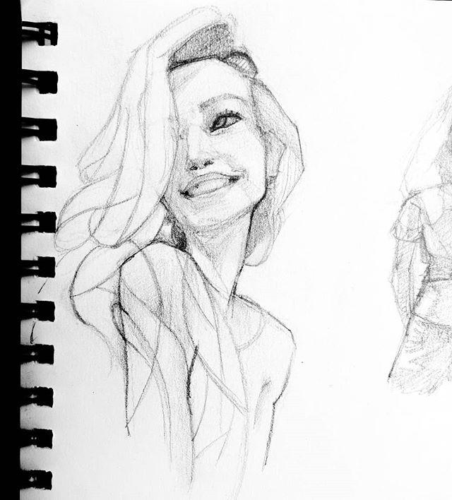I like faces. Don't you?  #portrait #portraitdrawing #drawing #instaart #girl #artistsoninstagram #sketch #sketchbook