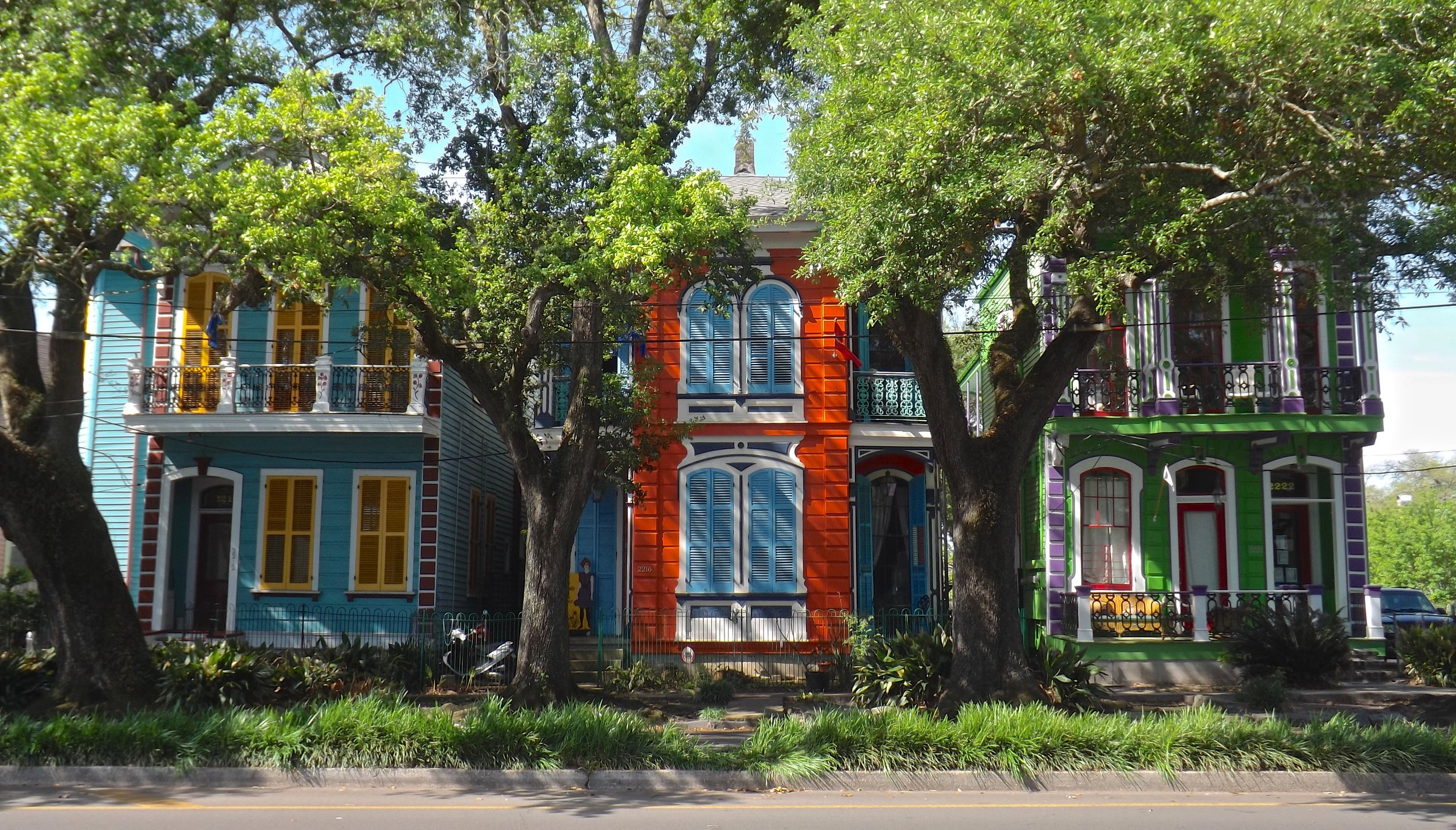 The most colorful houses on Esplanade Avenue.