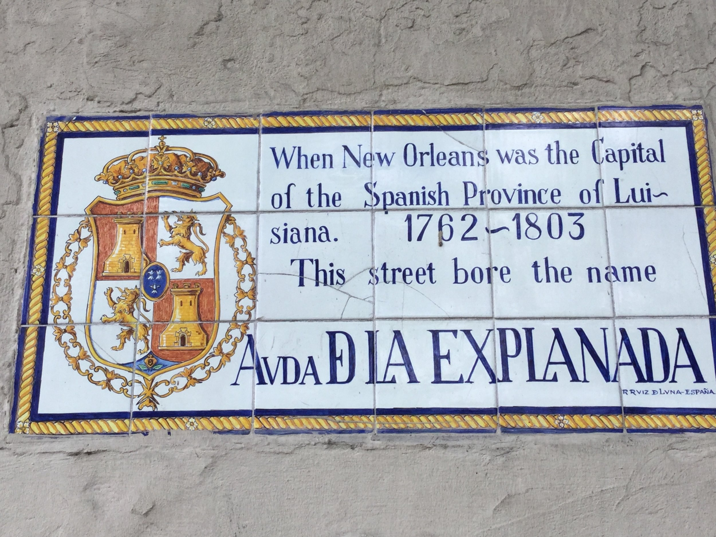 Esplanade Avenue has a long history: French, Spanish, French again, American, New Orleans the whole time.