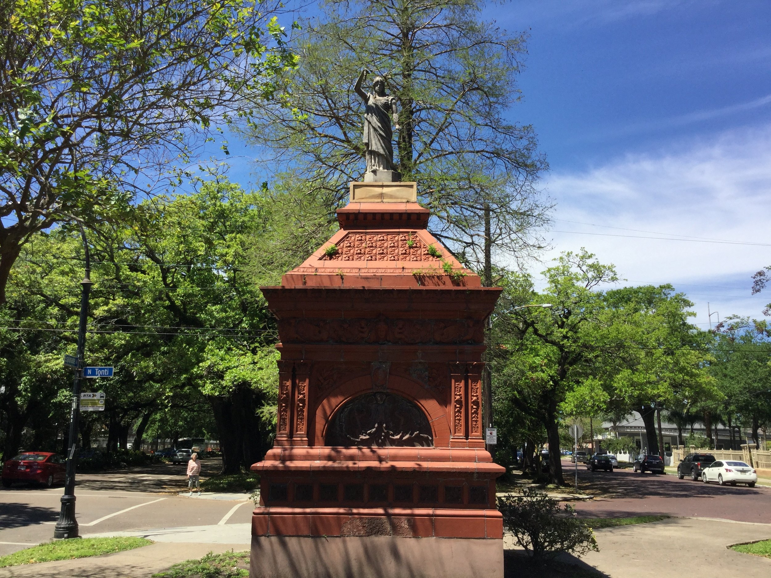 Statue of Clio, Gayarré Place, Esplanade Avenue,New Orleans, LA.