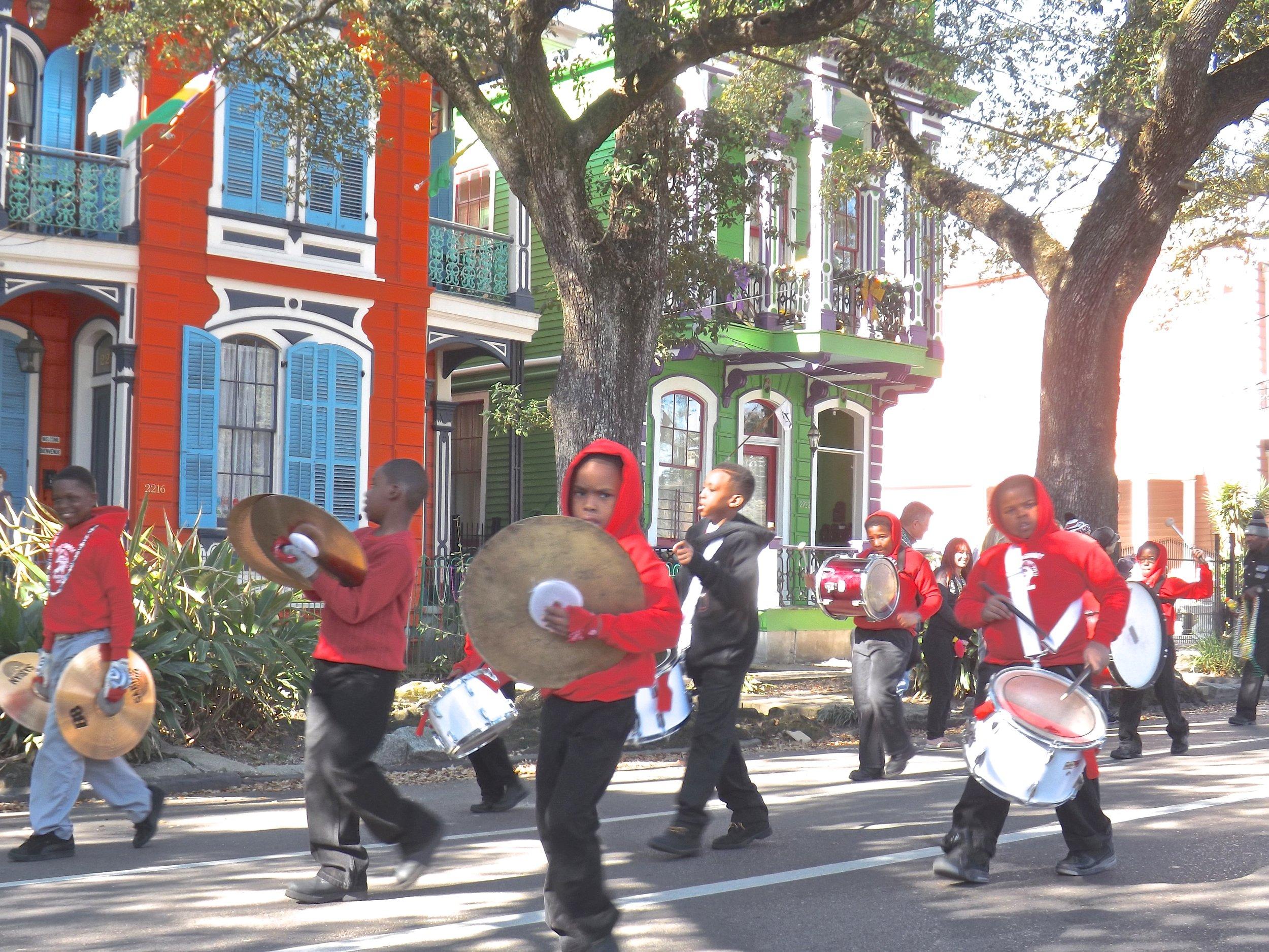 A parade on Esplanade Avenue, New Orleans, LA