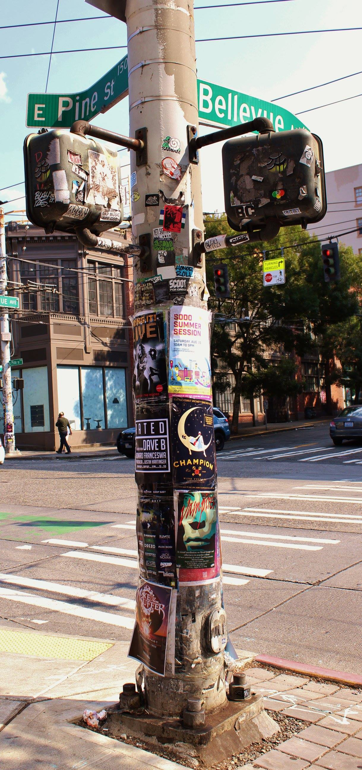 - In Seattle we don't litter….that's what the street poles are for.