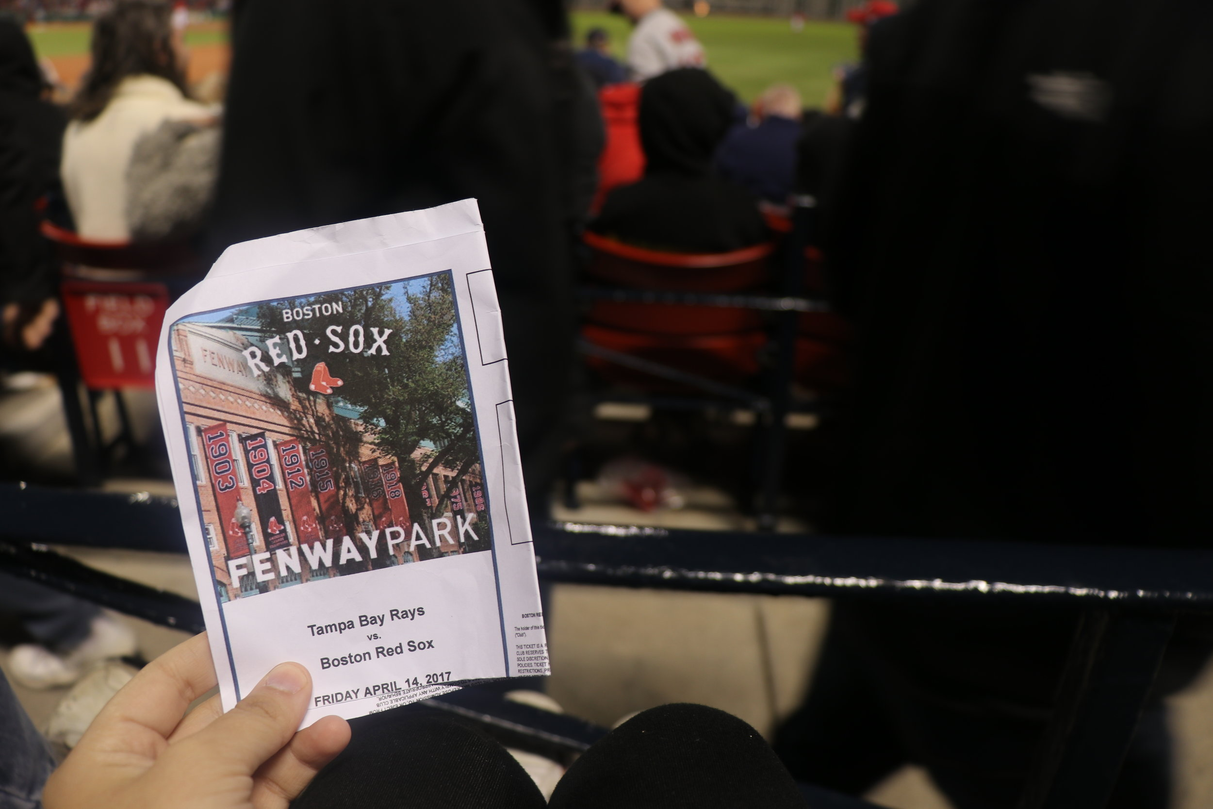 Game Ticket - Tampa Bay Rays visit the Boston Red Sox - Score Ray - 10 Sox - 5