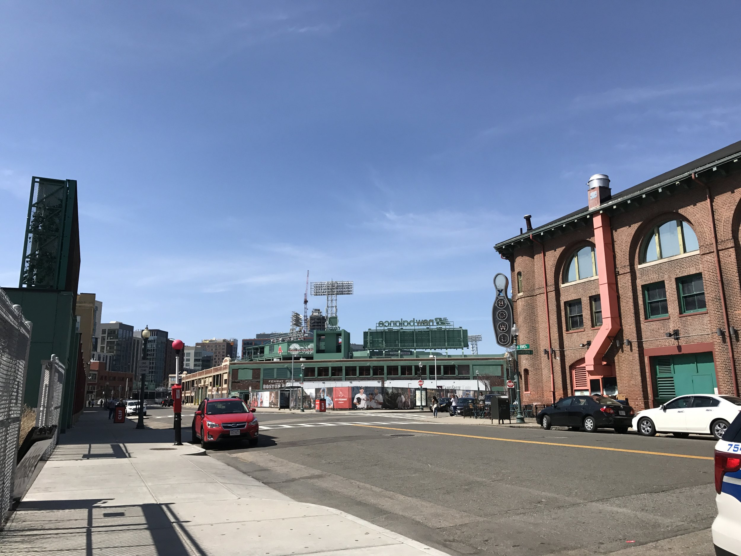 Fenway Park in placed right in the city of Boston. Everything around the staduim is almost simialr to the history and how old the stadium is.