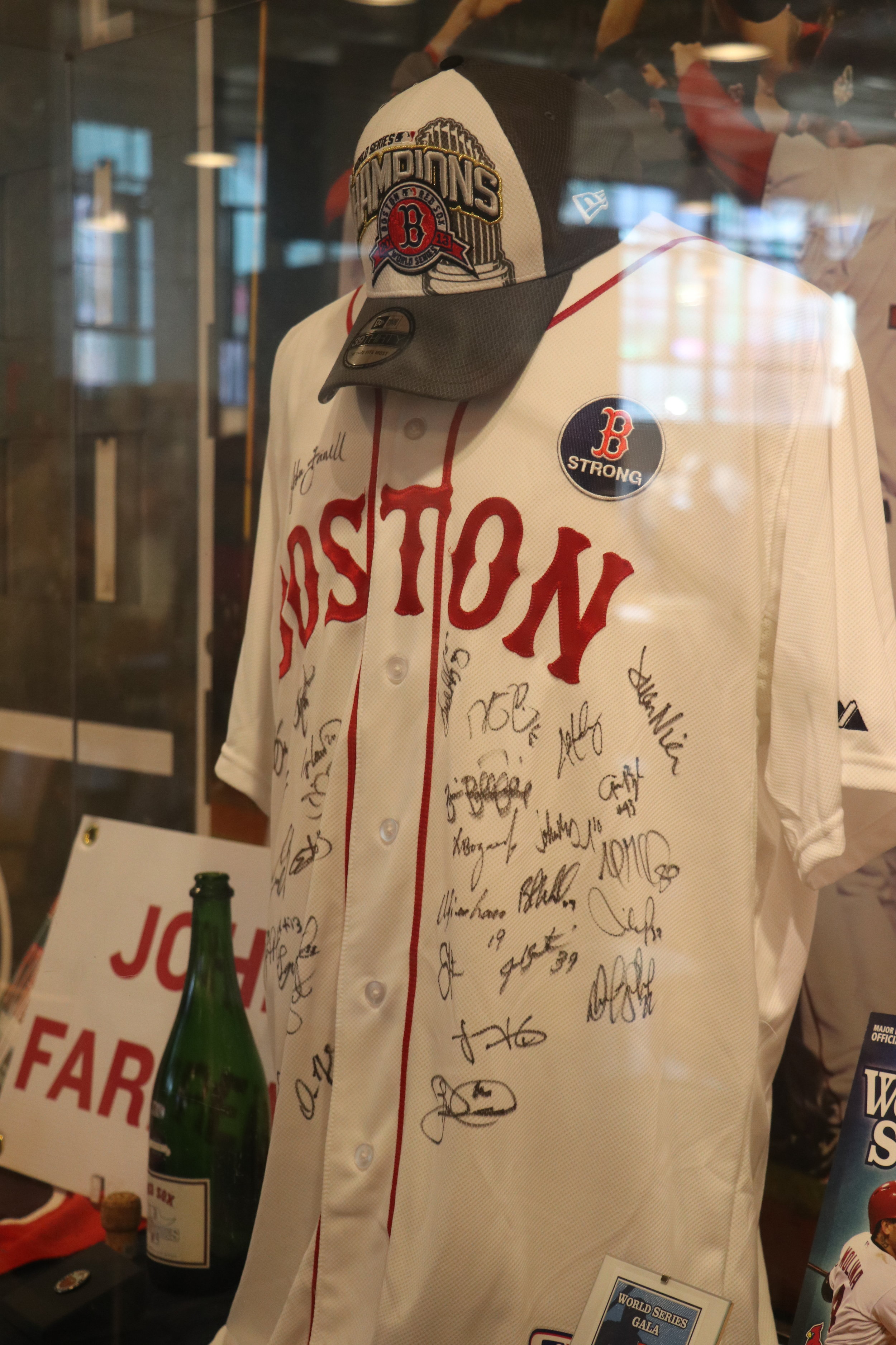 Jersey worn after the Boston Marathon Bombing - signed by all the players - only wear these jersey with the words BOSTON on the chest on Patriots day.