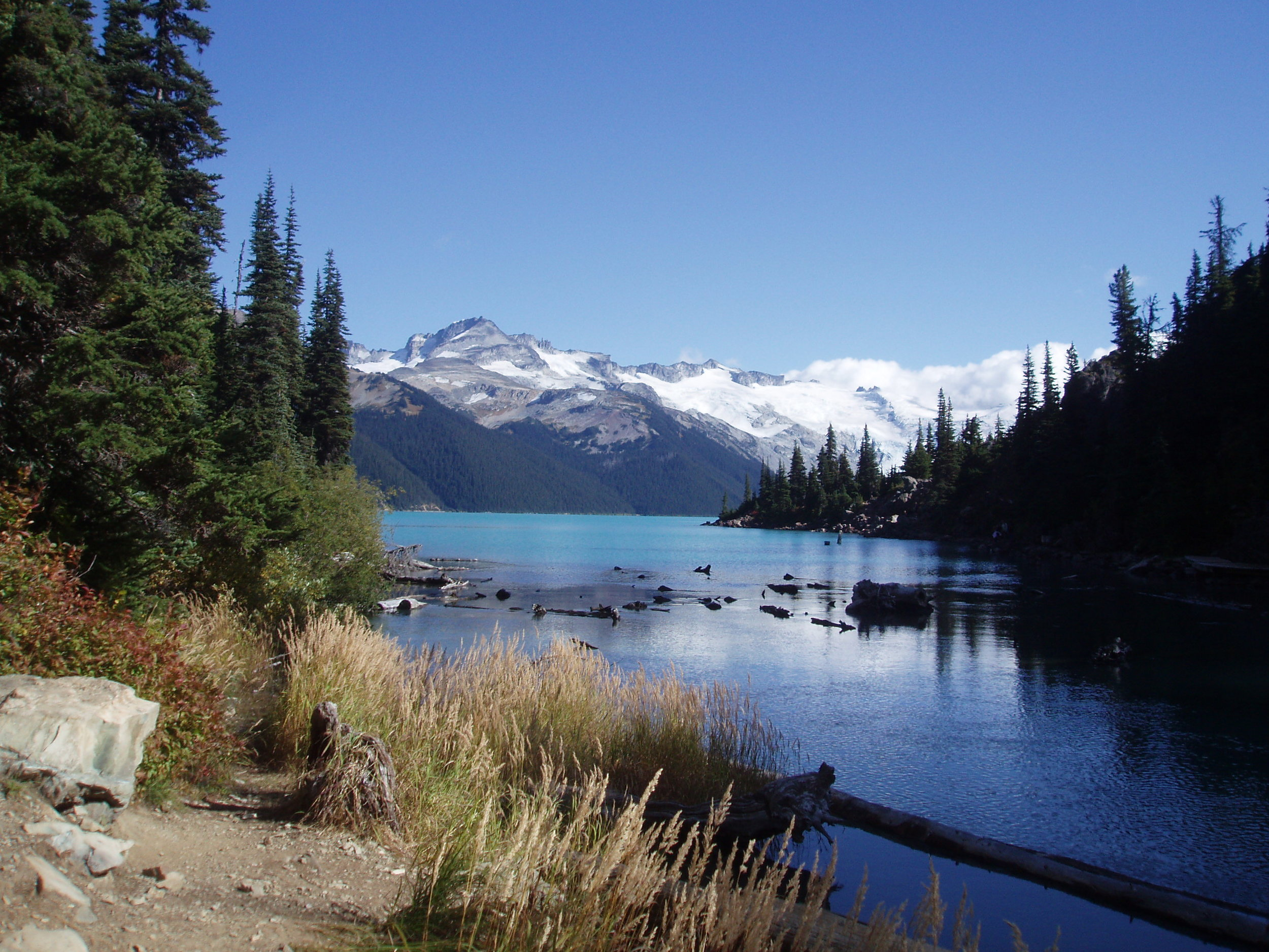 A glimpse of Garibaldi Lake from the trail.