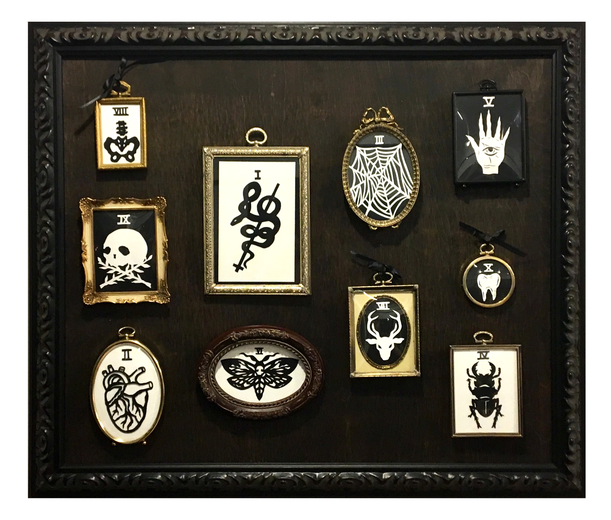 THE RELIQUARY  Hand cut paper