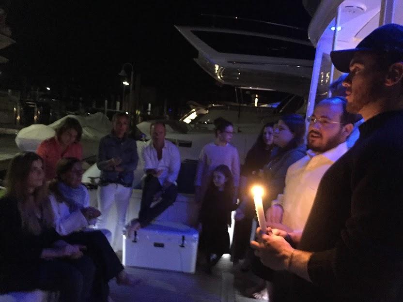 Havdalah at the Yacht Club