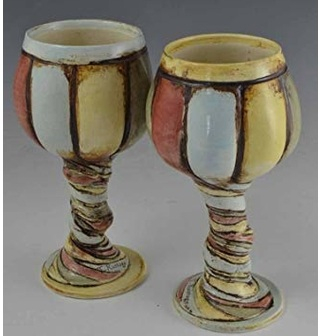 2-wine-goblets-handmade-pottery-wine-glass-set-ceramic-cup-whimsical-pottery-wine-glass-striped-colorful-goblet-collectible-pottery.jpg