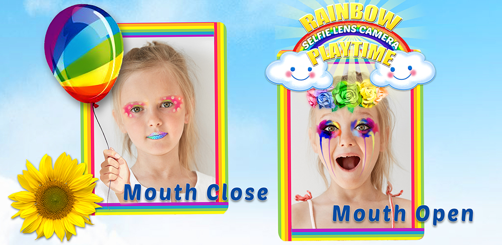 Rainbow Selfie Lense Camera  The app works like a real mirror - when you turn your head or change your expression, face-tracking technology makes sure your makeover moves with you, just like it's really on your face!  Wanna have more fun? Having problems or suggestions? We would love to hear from you!