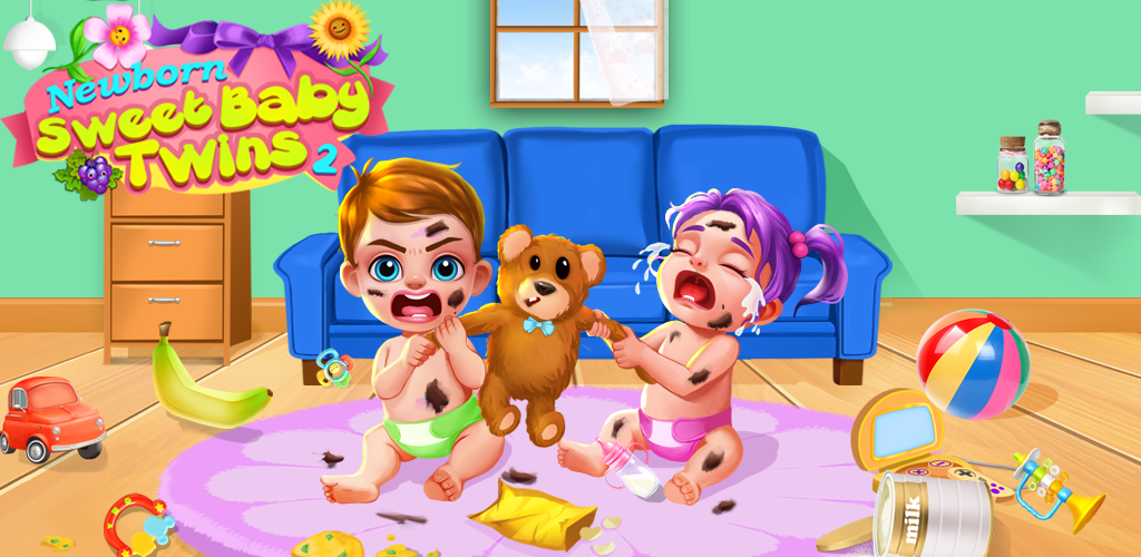 Newborn Sweet Baby Twins 2: Baby Care & Dress Up  Newborn Sweet Baby Twins 2 is coming! Download and check out newest baby game NOW!It's already a lot of work to raise one baby, it's even harder to raise two! Can you take the challenge and help the Mom to look after her sweet baby twins?