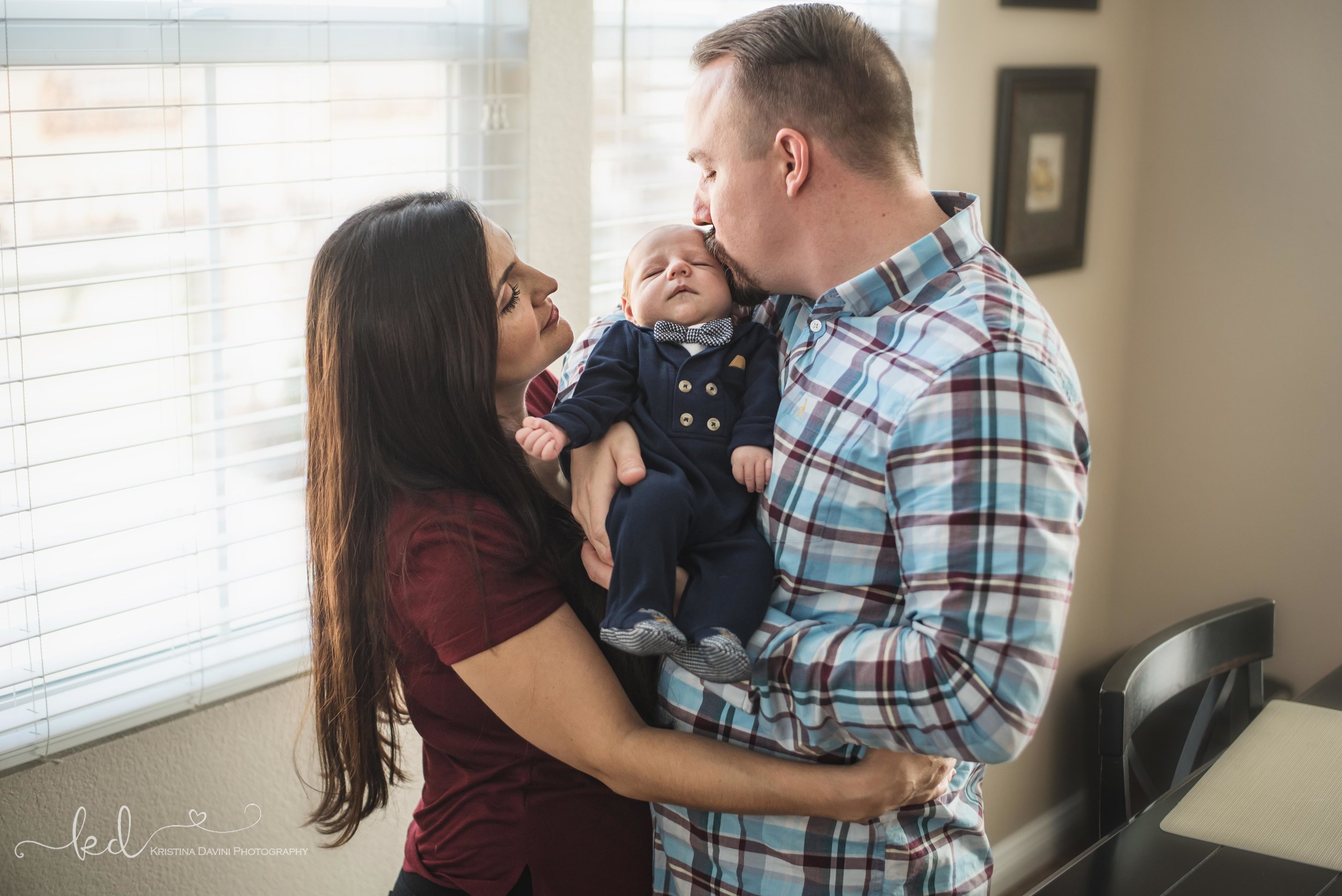 Baby James lifestyle newborn family portraits