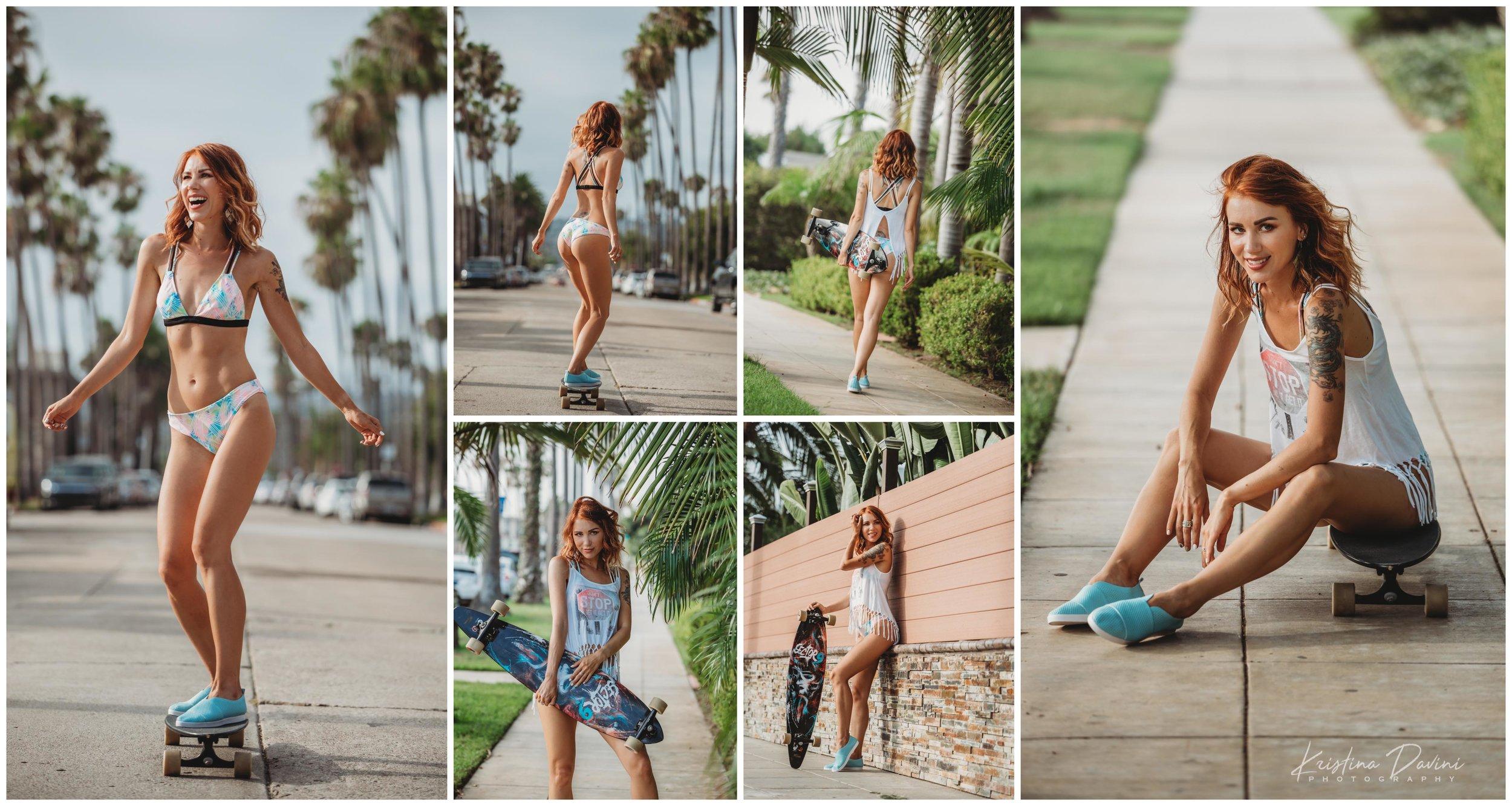 Skateboard Cali Girl