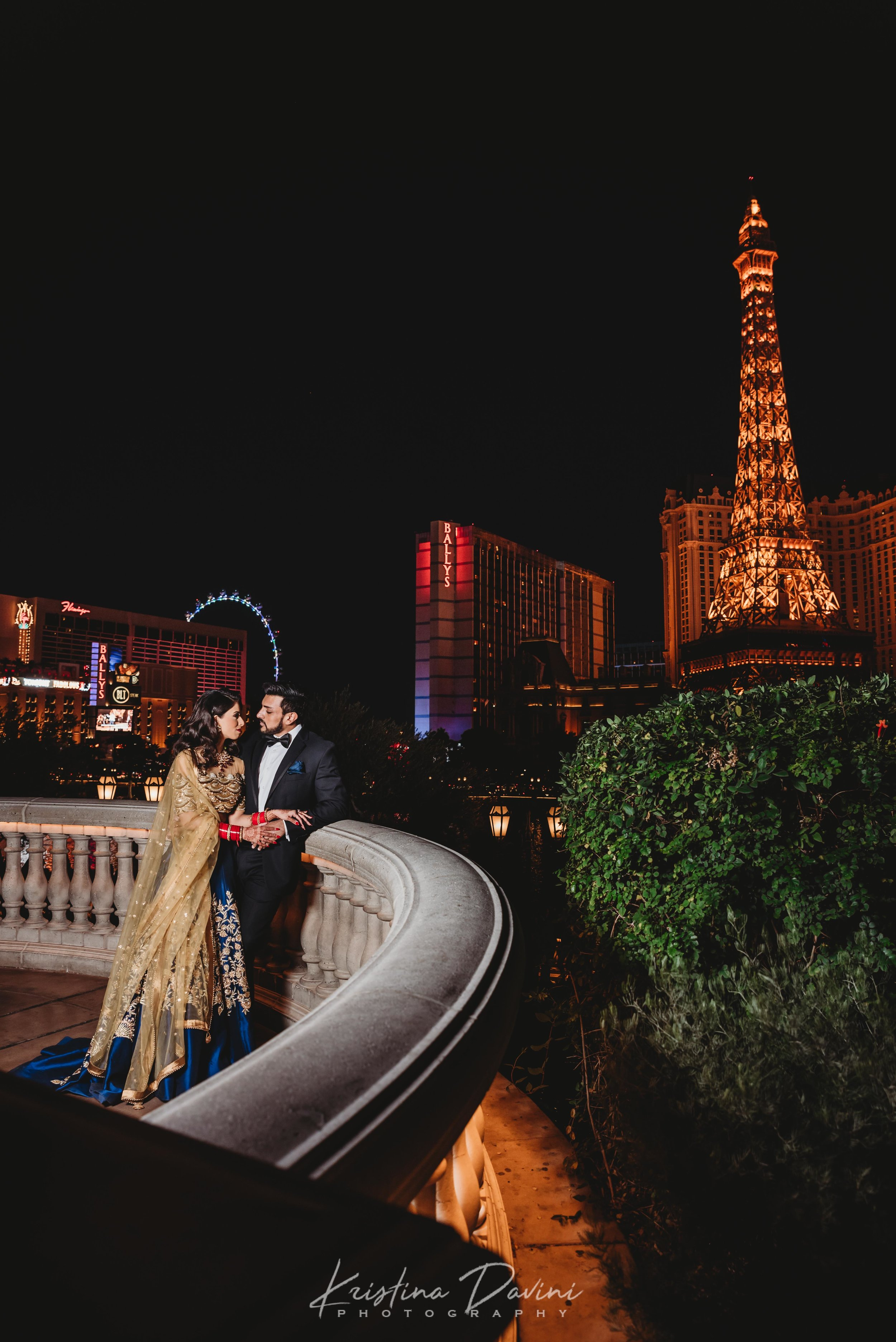 Couple's portraits at Bellagio