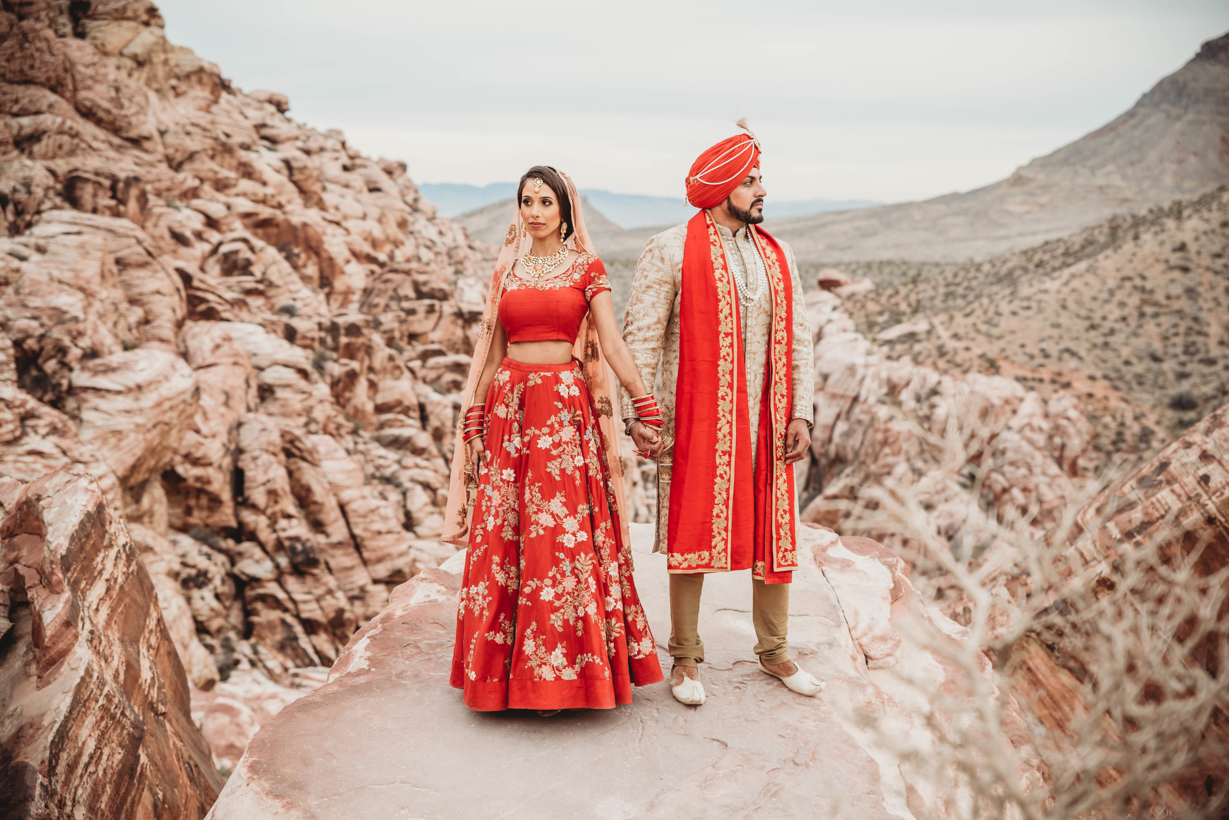 Couple portraits at Red Rock Canyon