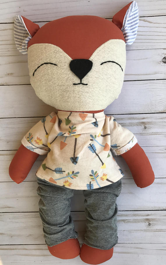 Quality Handmade Dolls - Kay Lorraine Boutique makes the cutest dolls and baby bibs. We invested in one of these sweet foxes for our youngest niece after seeing them at an event earlier this fall. They are extremely well-made with all kinds of details. We can't wait for our niece to enjoy her 'lovey' years!