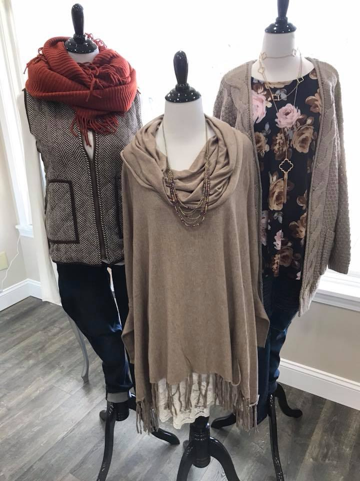 Fashion + more! - Peyton & Peppy Boutique is a local clothing boutique that carries beautiful women's fashion in sizes S-3XL. Tops, bottoms, dresses, sweaters, jewelry, shoes, hats & scarves, you name it they've got it! The best part is, their stock is constantly changing so there is always something new to choose from.If you aren't sure about buying clothes for a gift then purchase one of their gift cards and let that woman in your life enjoy shopping! Not local? That's OK too, they have a website you can order from. Click the button below to start shopping!