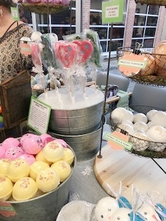 Fun soaps, bath bombs and more! - We were fortunate enough to be booth neighbors with Ingred last weekend at a local event. She is a super sweet lady with tons of fun bath products! The makes soaps for different skin types as well as chapstick, sinus steamers (we're all going to need those this time of year), bath bombs and more!We got one of her dinosaur bath wands for our boys. They thought it was so cool! It would be such a fun stocking stuffer for kids!