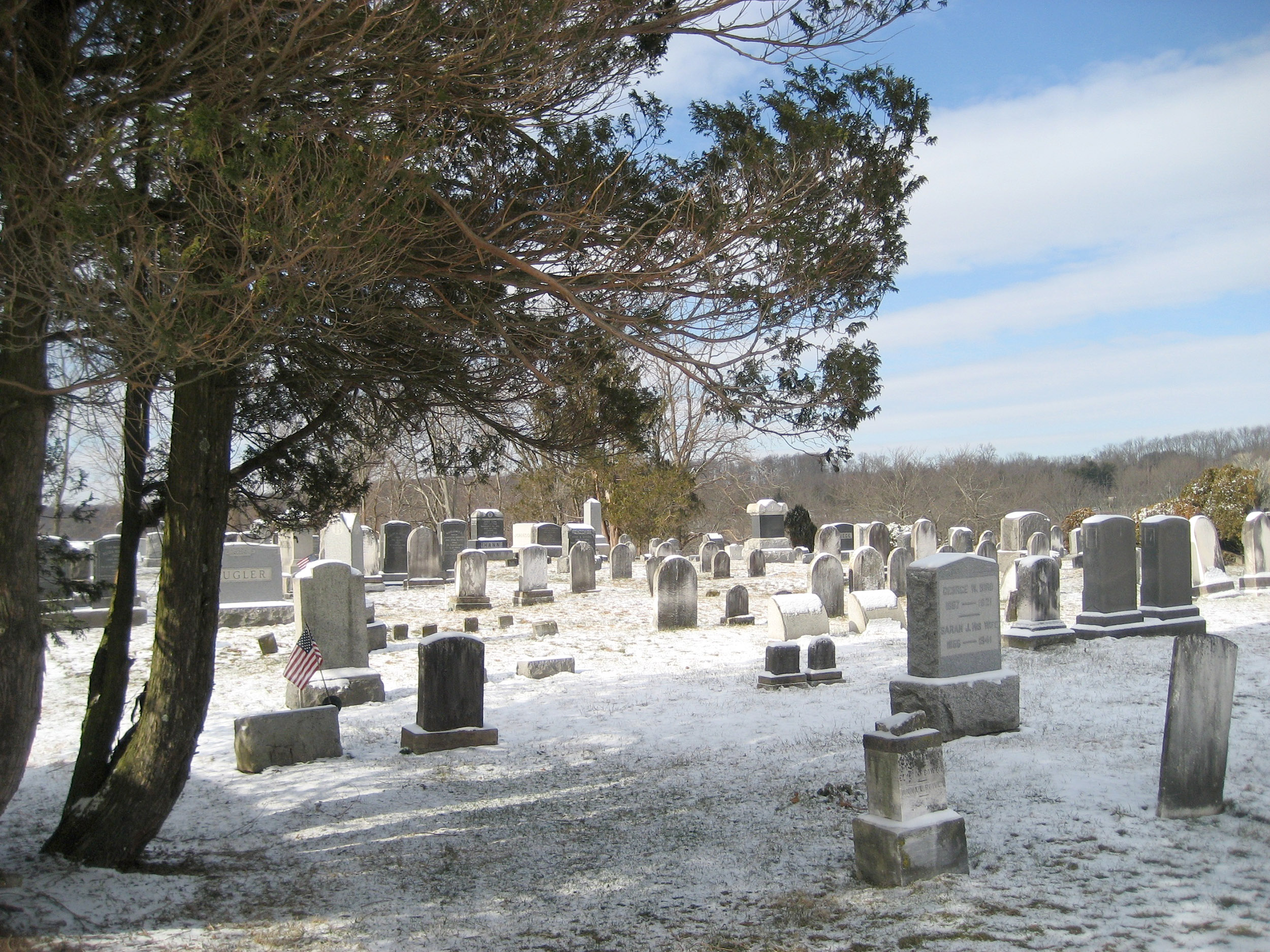 Rosemont Cemetery in Winter