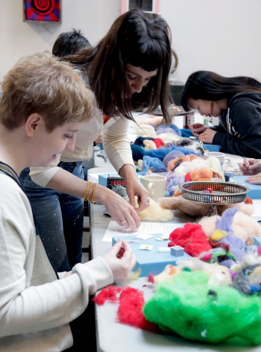 Felting workshops - Wet felting + needle felting workshops, classes result in marvelous finished projects.