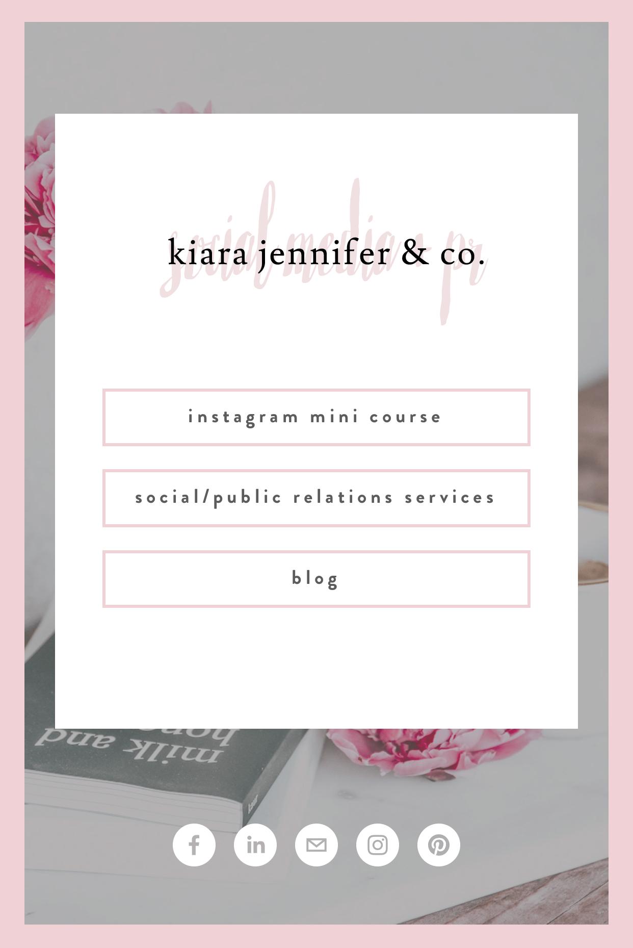Social Media Linktree Instagram Hack | kiara jennifer and co social media marketing and public relations