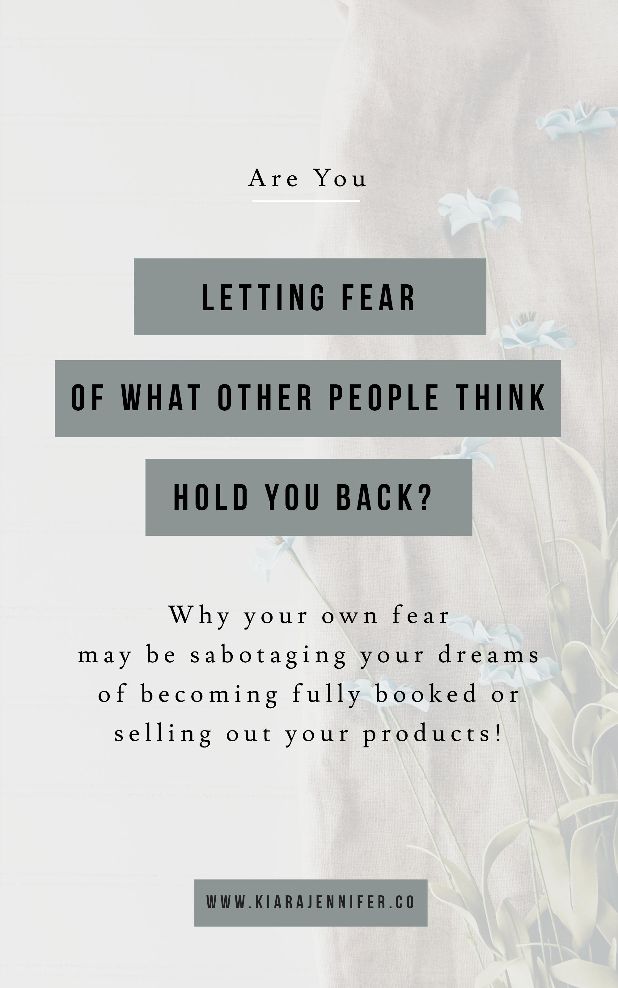 Fear Mindset | Entrepreneurship | Breaking Limiting Beliefs | Be More Visible | Kiara Jennifer & Co | Social Media Marketing | Public Relations