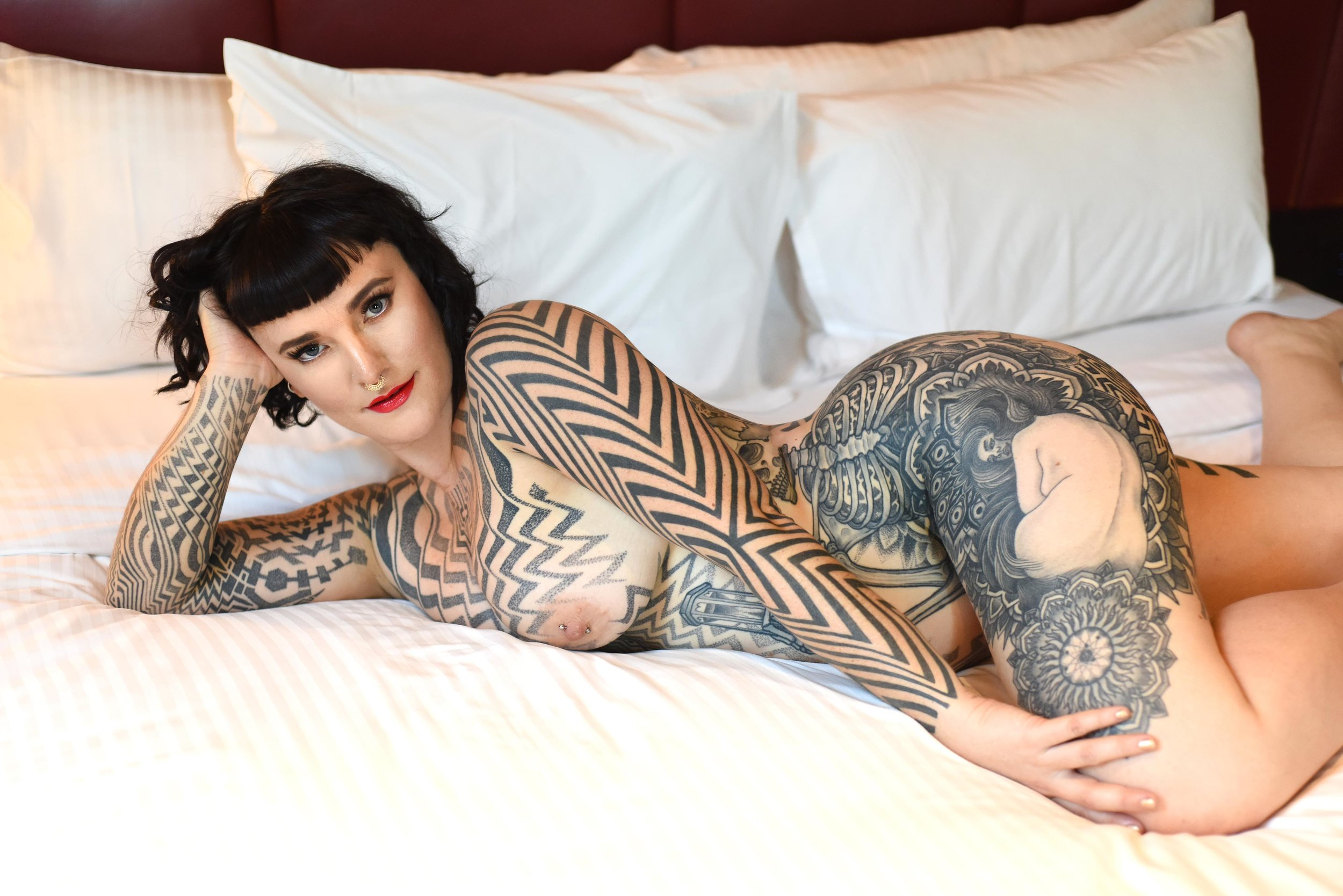Tallula Darling tattooed fetish escort