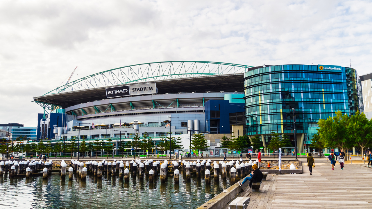 Docklands Stadium in Melbourne with three 1750 kW HUNT TNAR boilers
