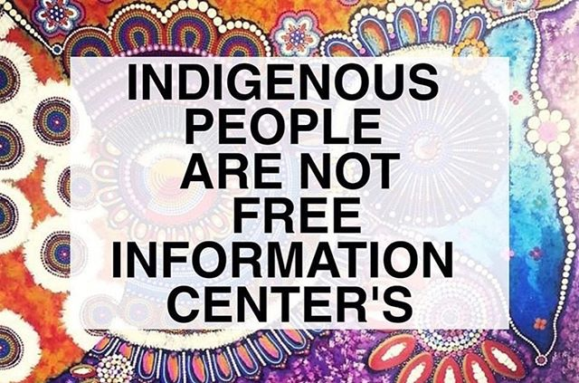 Our culture has survived. Please respect our voices and our knowledge. A big part of our culture is sharing... don't take advantage of our people and our kindness. Good ways 🤙🏾