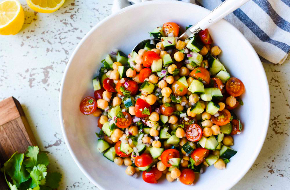 Try cherry tomatoes instead of diced whole tomatoes.