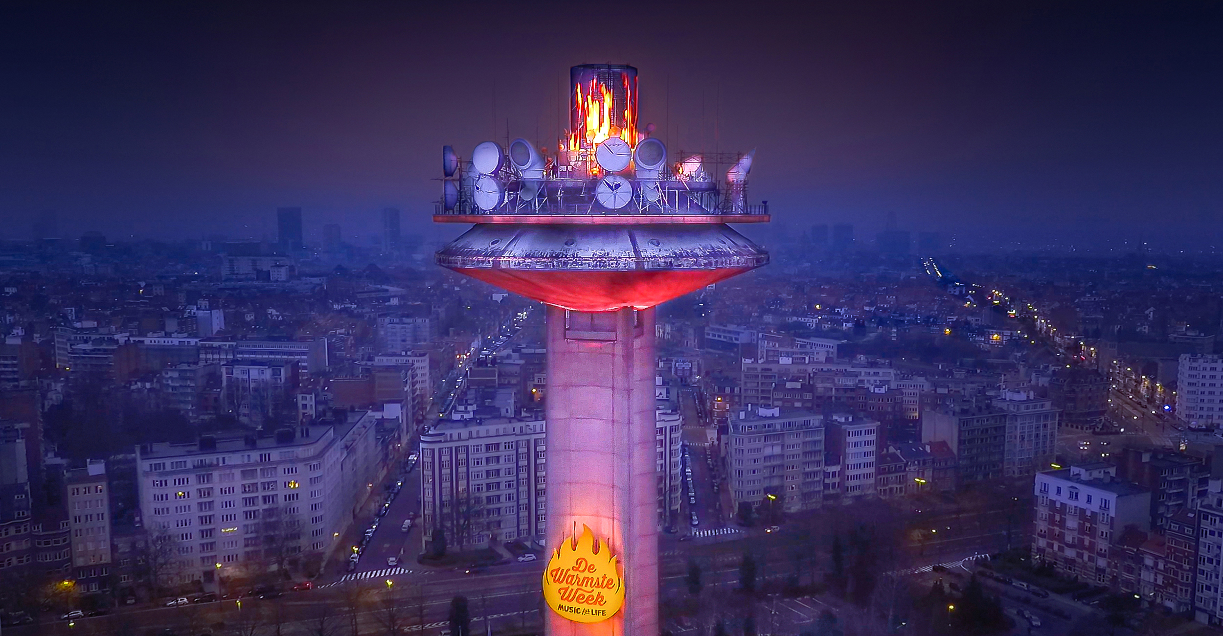 VRT toren warmste week hover-cam