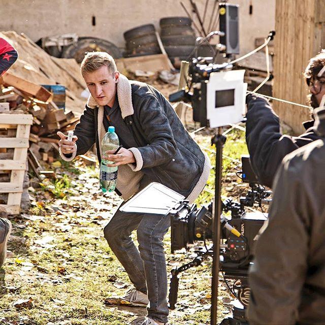 surfing on the set of COMING BACK 🎥🏄♂️ modern western starring @tilseroz , @myra.goldie , @tsibatov , @ondrasurfar & @ludektvrdy #directing #dreams #hustleneverstops