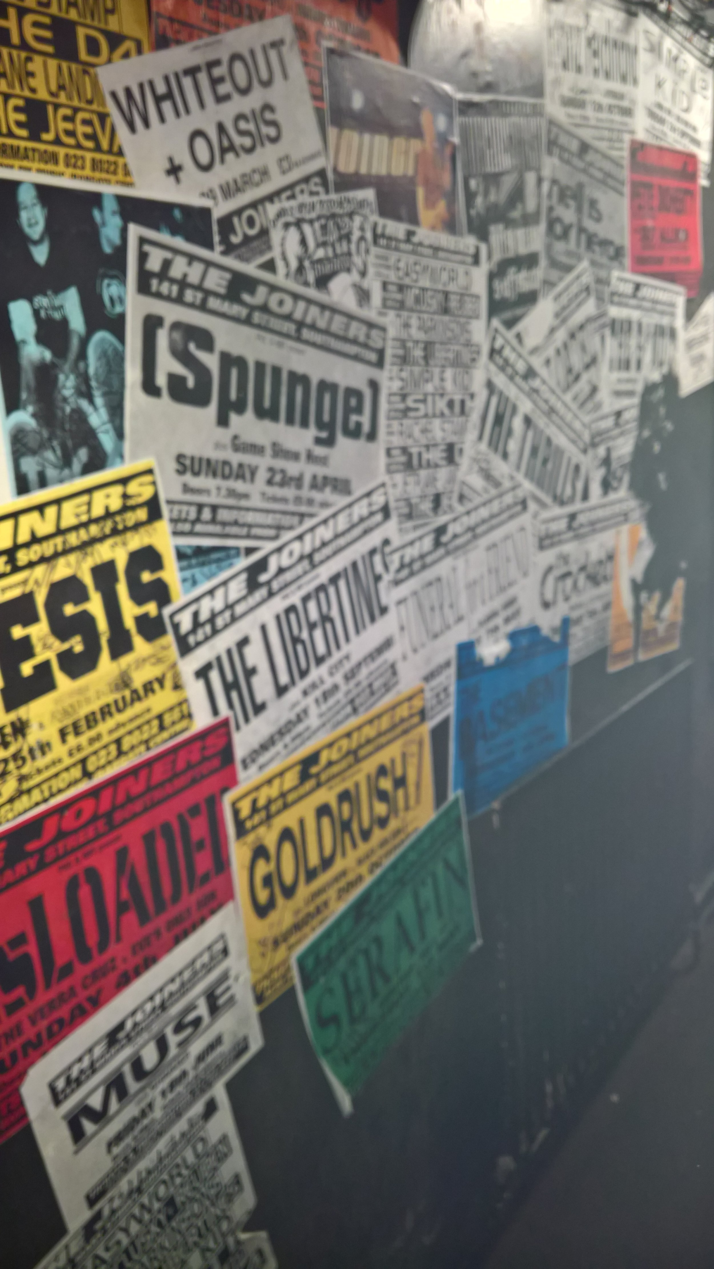 Some of the bands that have played at The Joiners.