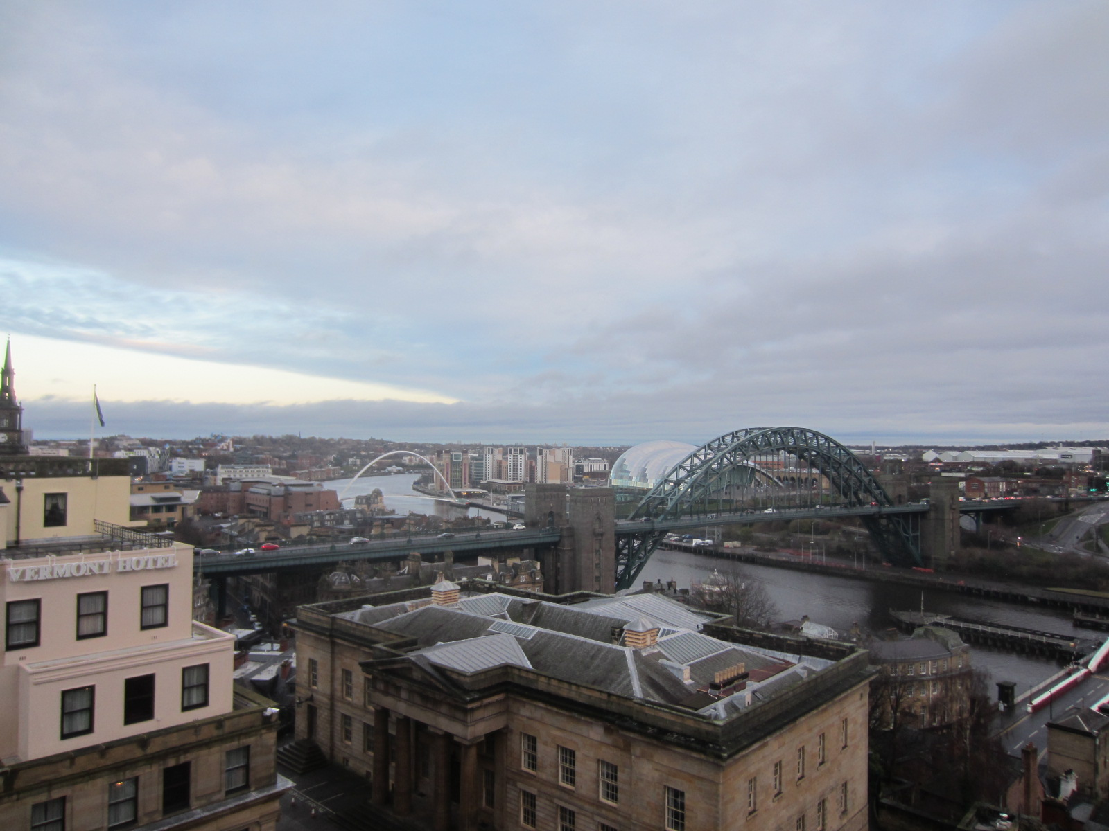 The view from Newcastle castle.