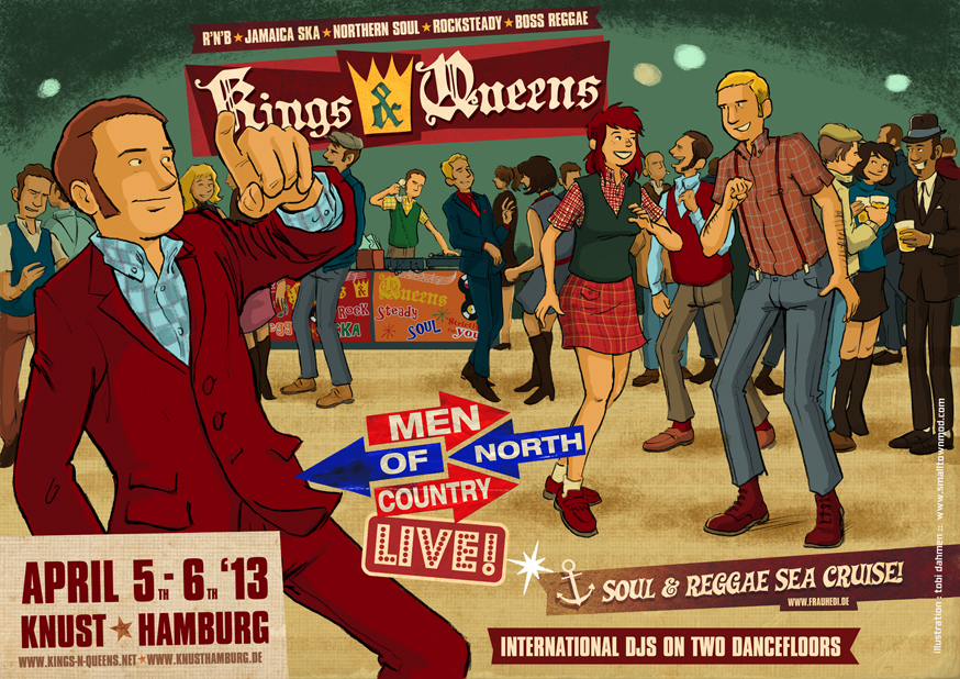 Poster for the Kings & Queens Weekender, Hamburg