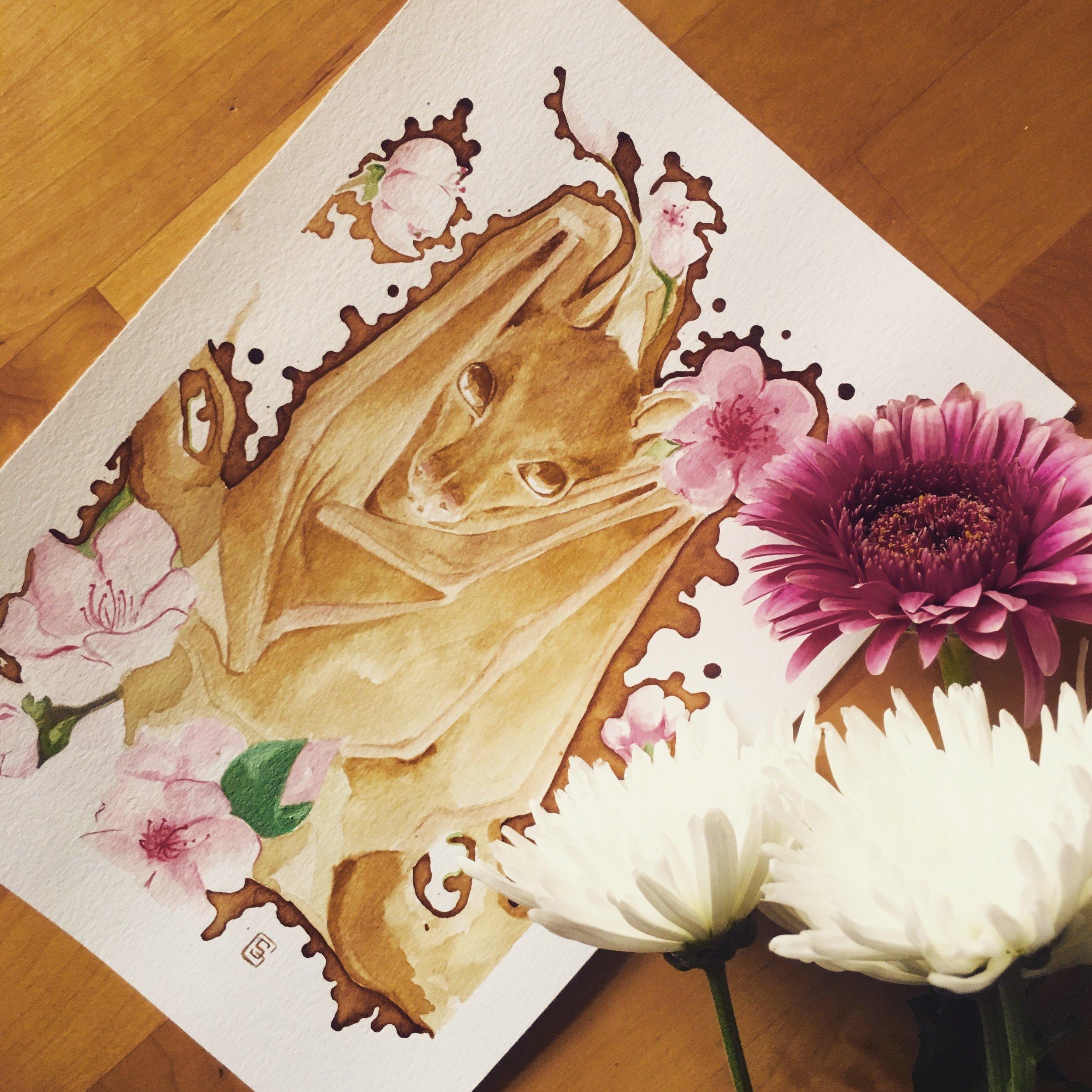 Blossom Bat (2017) SOLD