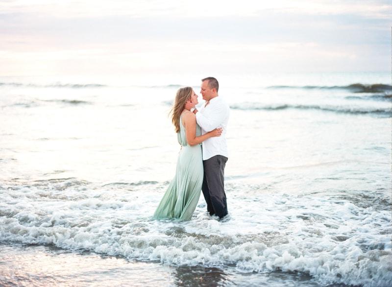 Kure Beach Sunrise NC Engagement Photographers